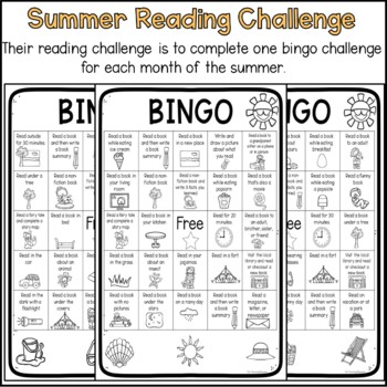 Bingo Summer Reading Challenge
