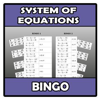 Bingo - System of equations - Sistemas de ecuaciones