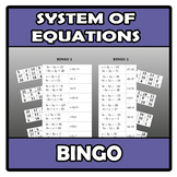Bingo - System of equations - Sistemas de ecuaciones