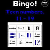 Teen numbers bingo