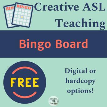 Bingo Template - ASL