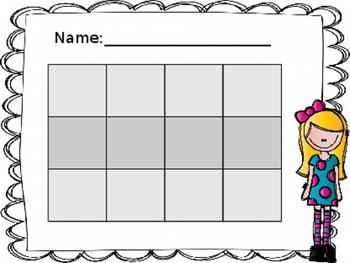 Bingo Template Editable