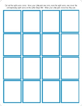 Bingo Template FREEBIE