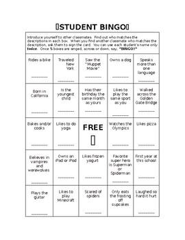 Bingo Template/ Icebreaker