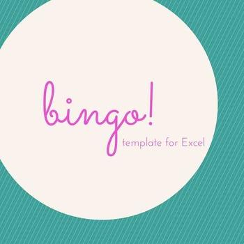 Bingo Template on Excel