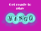 Bingo Template with answer slides