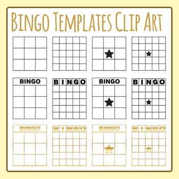 Bingo Templates Clip Art Set for Commercial Use
