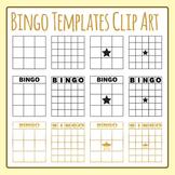 Bingo Templates Clip Art Set for Commercial Use