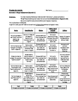 Bingo & Tic-Tac-Toe Assessments - Alternative Ways to Assess