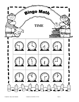 Bingo - Time - half hour