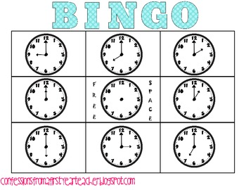 Bingo: Time to the Hour