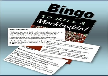 To Kill a Mockingbrid BINGO