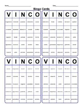 Bingo Tombola Condizionale Presente