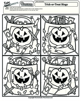 Halloween Bingo: Trick or Treat