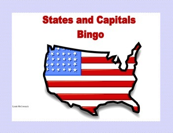 Bingo-United States State and Capital Review