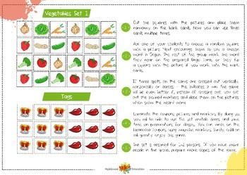 Bingo Vegetables All Sets