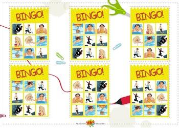 Bingo Verbs All Sets