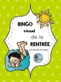 Bingo Vivant: Jeu De La Rentrée/French Back To School Game