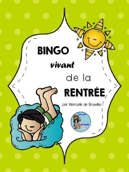 Bingo Vivant: Jeu De La Rentrée/French Back To School Game
