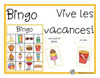 Bingo Vive les vacances!