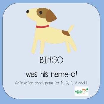 Bingo Was His Name-o! Articulation card game