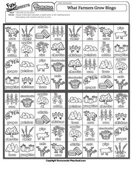 Bingo: What Farmers Grow