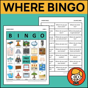 """Bingo: """"Where"""" Questions"""