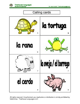 Bingo: animals in the house and farm