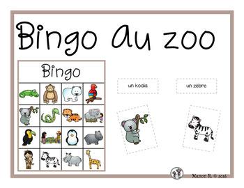 Bingo au zoo