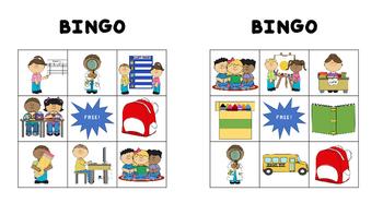 Bingo: back to school