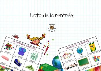 Bingo back to school - loto de la rentrée
