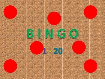 Bingo cards 1 - 20