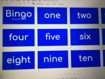 Bingo cards and powerpoints for number recognition and place value