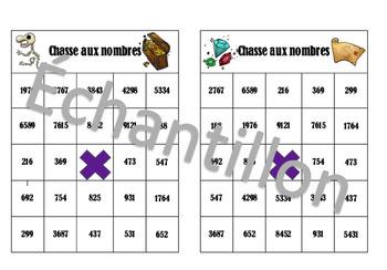 Bingo chasse aux nombres