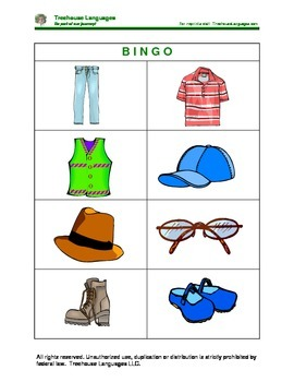 Bingo: clothes