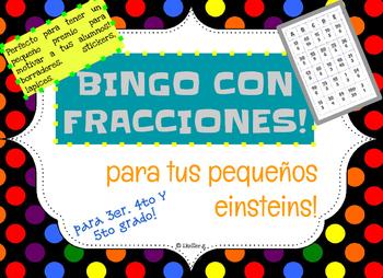 Bingo con fracciones! Para tus pequeños Einsteins!!
