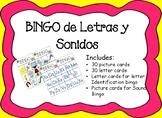 Bingo de Letras Y Sonidos Letter Sound Bingo