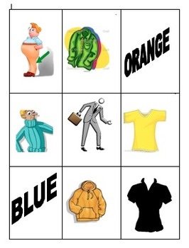 Bingo de Ropa y colores