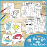 Bingo de Verano Juego Imprimible - Summer Bingo Printable Game in Spanish