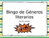 Bingo para leer diferentes géneros literarios