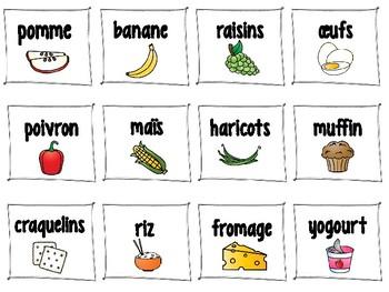 Bingo de l'alimentation