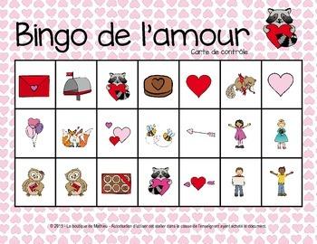 Bingo de la St-Valentin {24 cartes différentes} in French