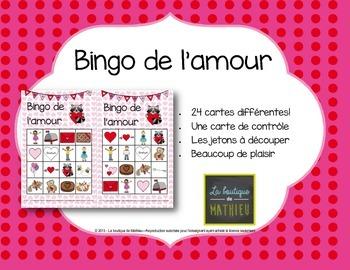 Bingo de la St-Valentin {24 cartes différentes} [Valentine