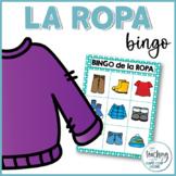 Bingo de la ropa (Spanish Clothing Bingo)