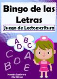 Bingo de las Letras: Juego de Lectoescritura