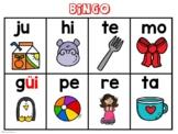 Bingo de las Sílabas-Syllable Bingo