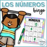 Bingo de números para trazar - Numbers Bingo in Spanish