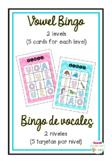 Bingo de vocales en español