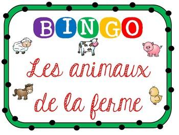 Bingo des animaux de la ferme