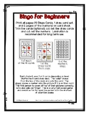 Bingo for Beginners ~ Preschool ~ Focus Letter Beginning S